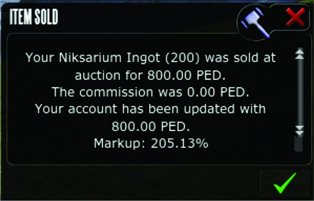 Niks sold 205%